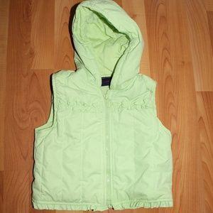 Kids Headquarters Girl 4T Green Puffer Vest Hooded